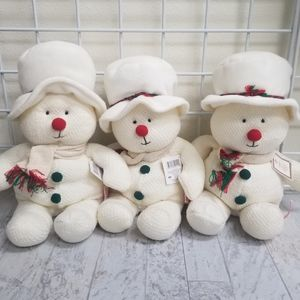 NEW Russ Berrie Baby Soft Plush Snowmen-3